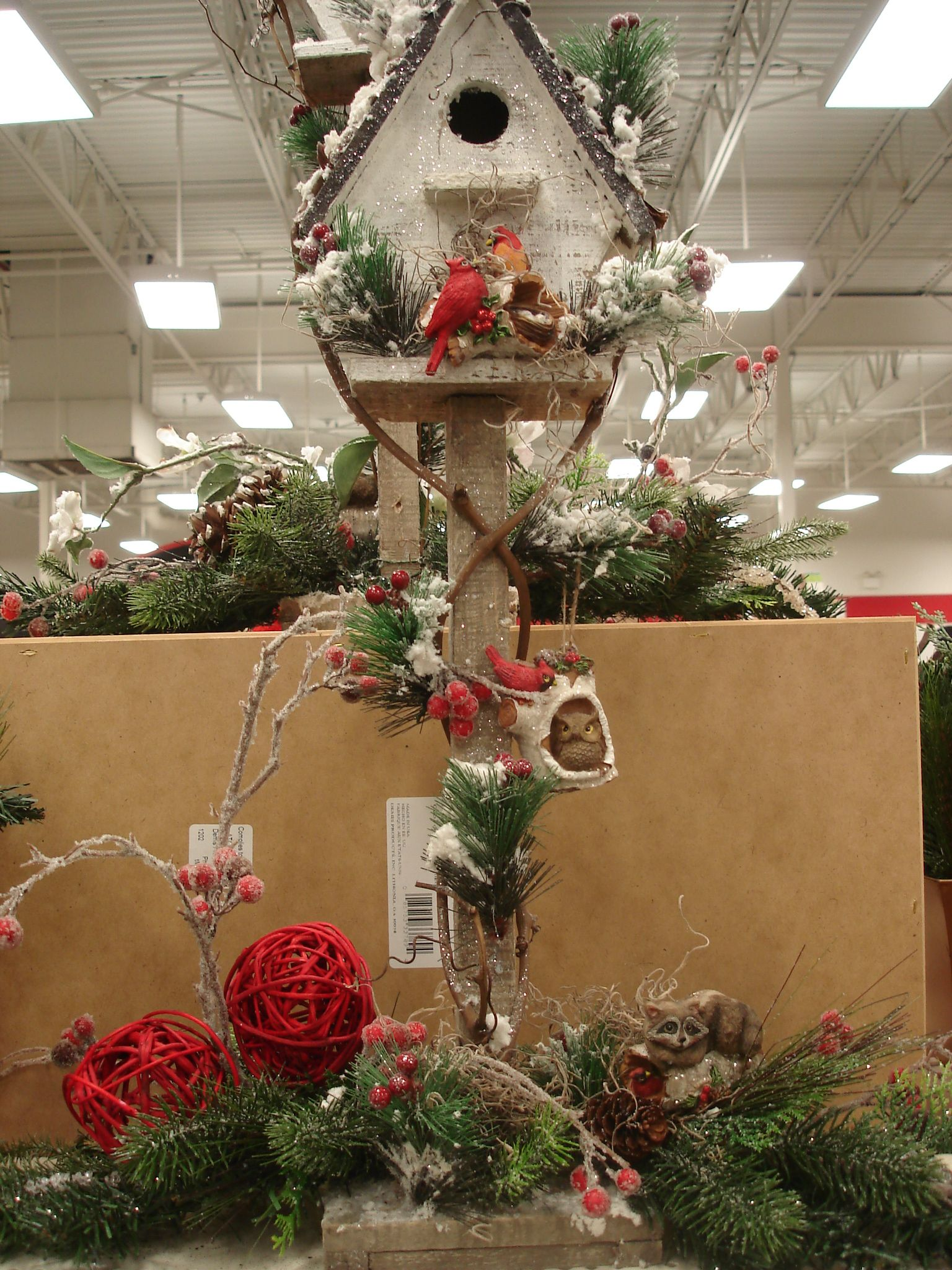 Woodland Birdhouse Centerpieces Tree Toppers And Indoor