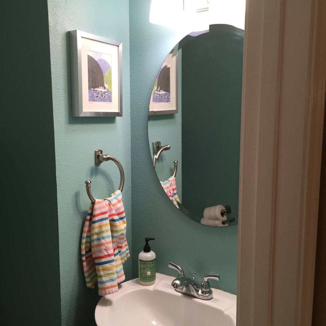 redid our small bathroom in paint color valspar lake