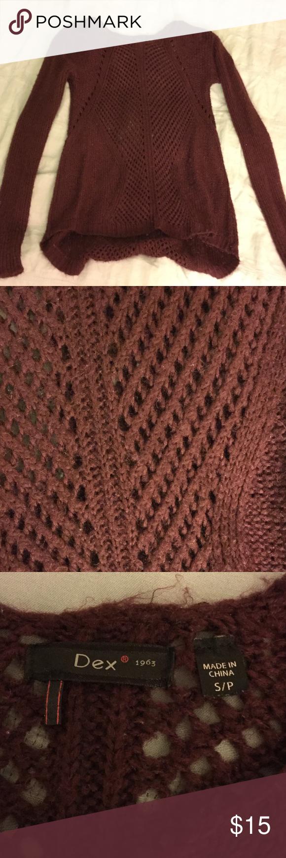 Cute Dex purple sweater Cozy purple sweater! Great condition! Dex Sweaters Crew & Scoop Necks
