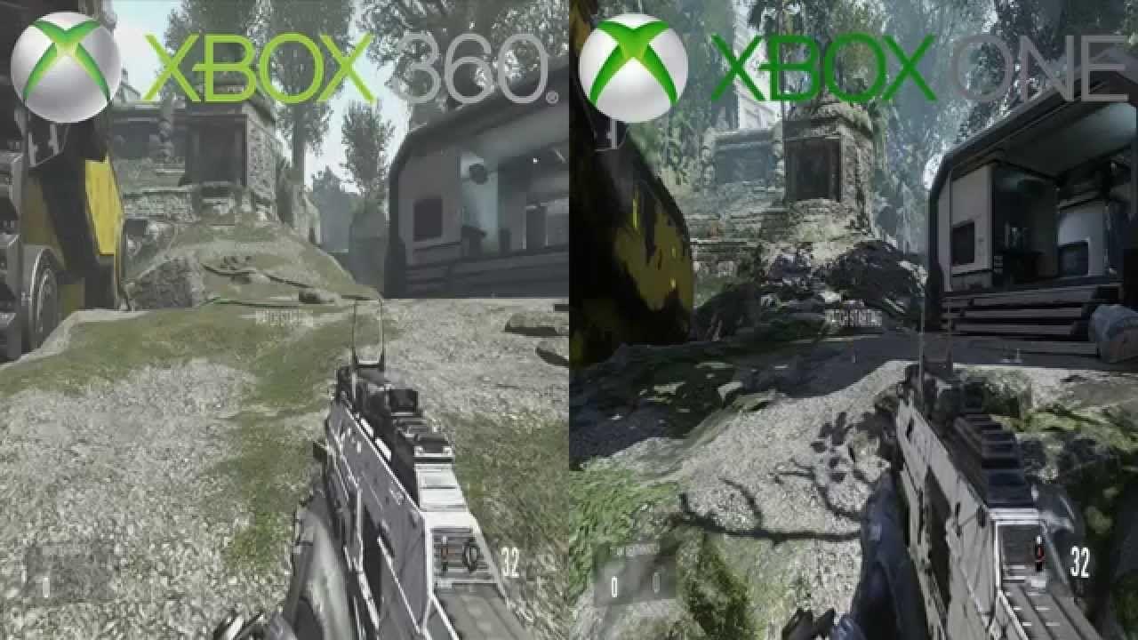 Advanced Warfare Graphics Comparison! Xbox 360 Vs  Xbox One