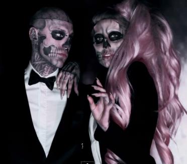 Rico The Skeleton Lady Gaga Kostyum Ledi Gagi Ledi Gaga Rik Dzhenest