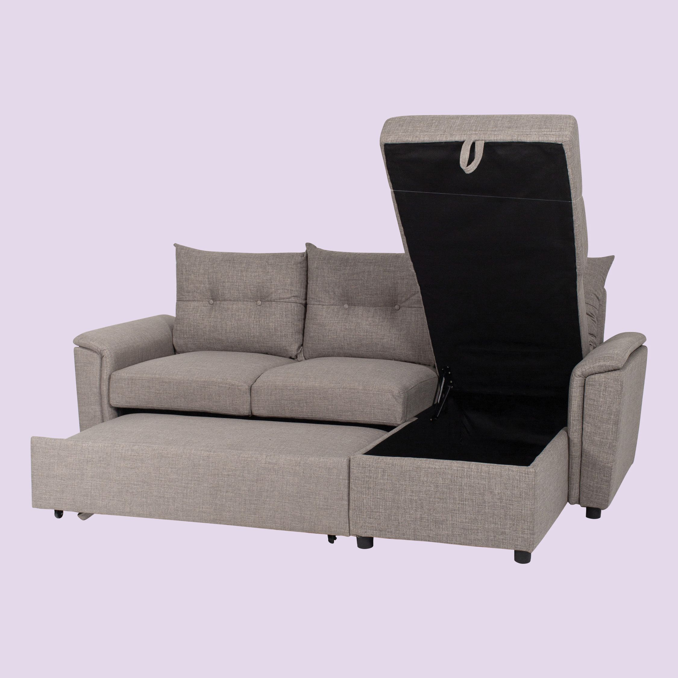L Shape Sofa Bed with Storage   Sofa bed with storage ...