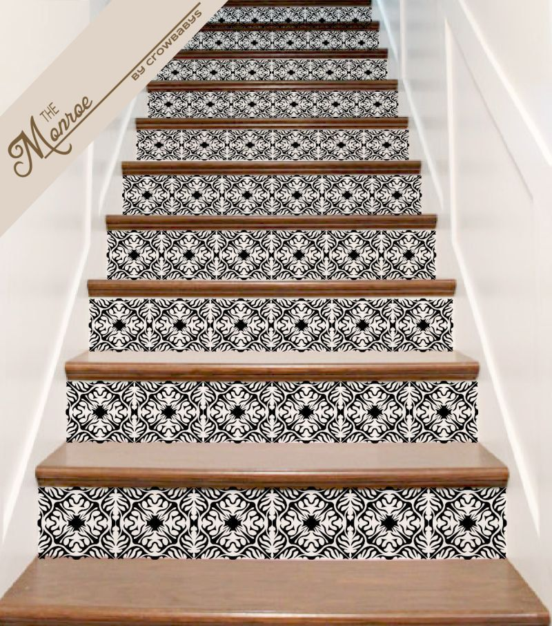 Stair Decals Ornate Vinyl Tile Decal Decor Idea For