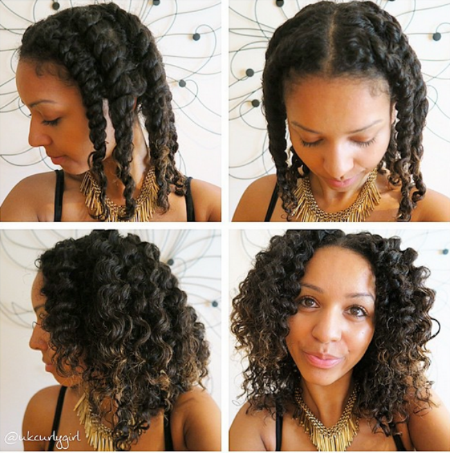 How To Blend Your Transitioning Hair With A Twist Out Natural Hair