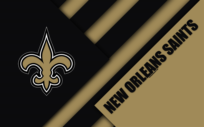 Download Wallpapers New Orleans Saints 4k Logo Nfc South Nfl Black Brown Abstraction Material Design American Football New Orleans Louisiana Usa Nati New Orleans Saints Nfc South New Orleans