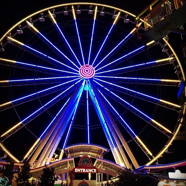 Such fun riding the ferris wheel at The Island in Pigeon Forge, TN .Have you been there? .Re-pin and dive in deep with stories of family fun at growinginpurpose.com. #growinginpurpose #tn #family #familyfun #funwithfamily #familyvacation #vacation #funfamilyvacation #familyvacations #tnvacations #travel #travels #familytravels