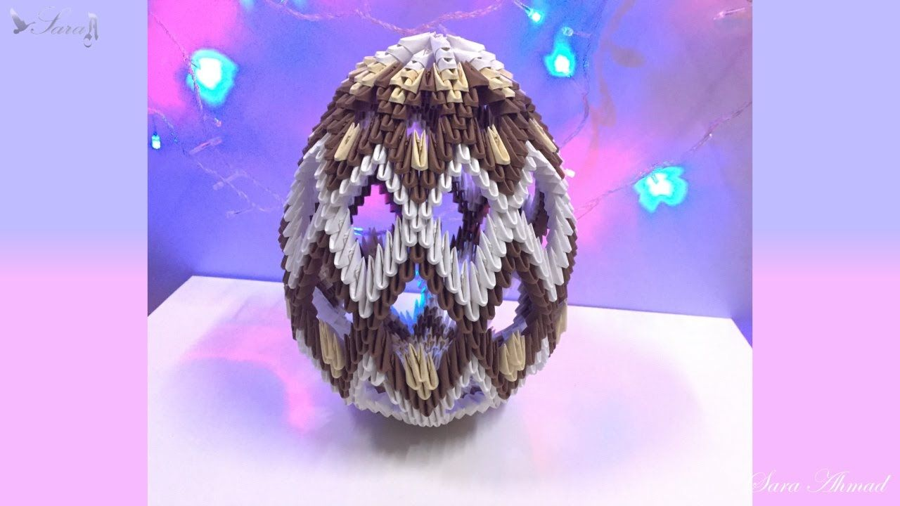 How To Make 3d Origami Easter Egg Origami Patterns 3d Origami Origami Lamp