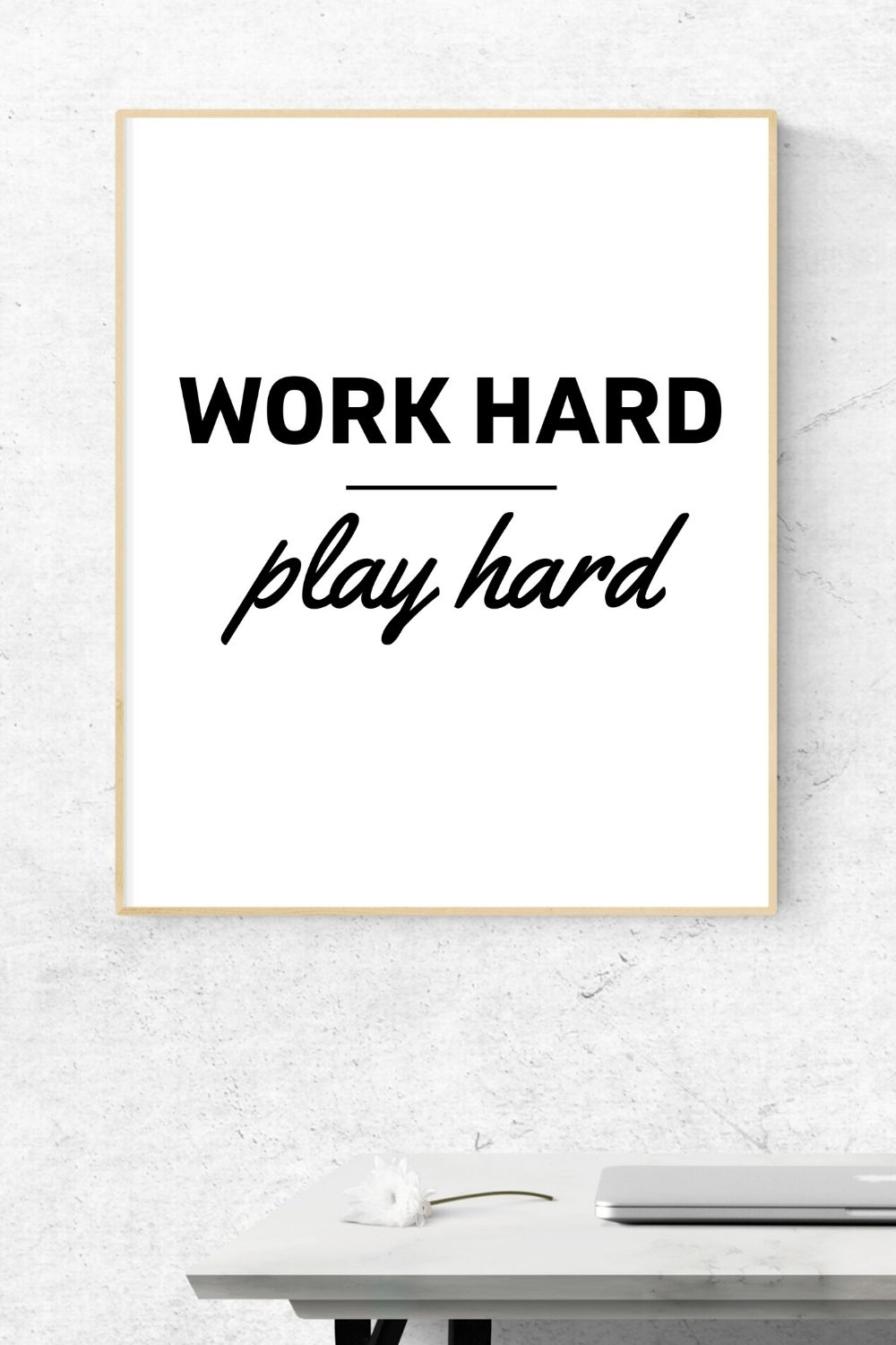 Work Hard Play Hard Motivational Inspirational Quote Etsy Wall Art Prints Printables Work Hard Play Hard Play Hard