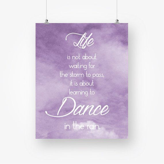 Inspirational motivational life quote printable purple quote ...