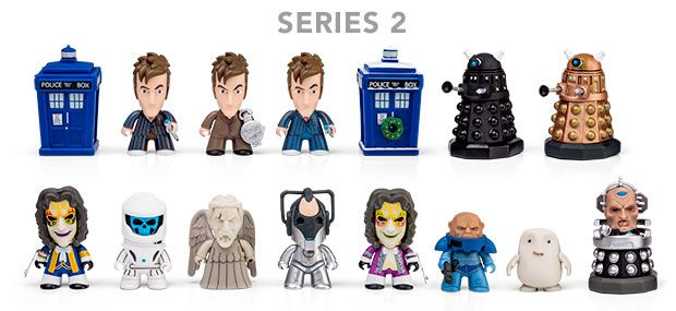 Doctor Who Titans 11th Doctor Series 2 Vinyl Figures 4 Random Blind boxes
