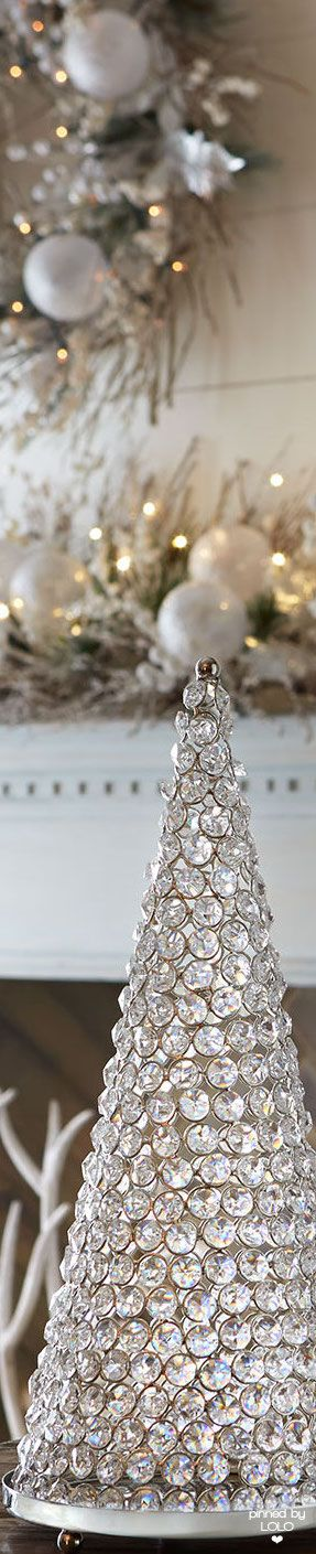neiman marcus crystal 30 cone tree with plate lolo