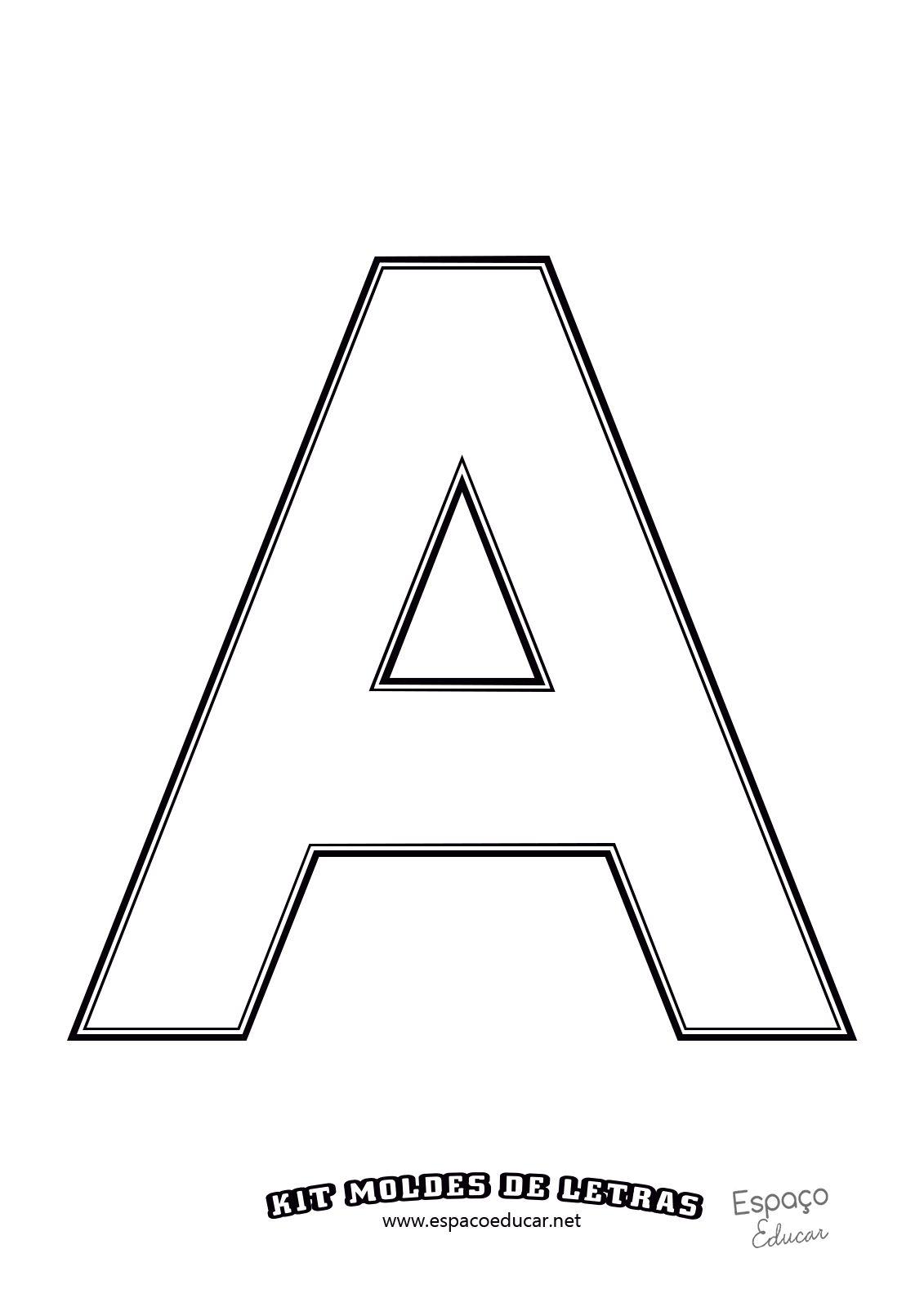 molde das letras do alfabeto em tamanho grande ofÍcio grÁtis para