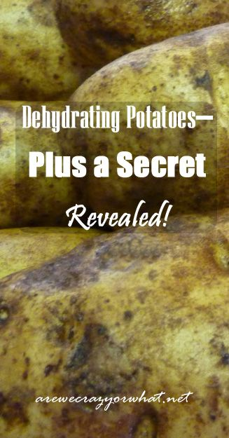 Step by step directions for dehydrating potatoes. #beselfreliant