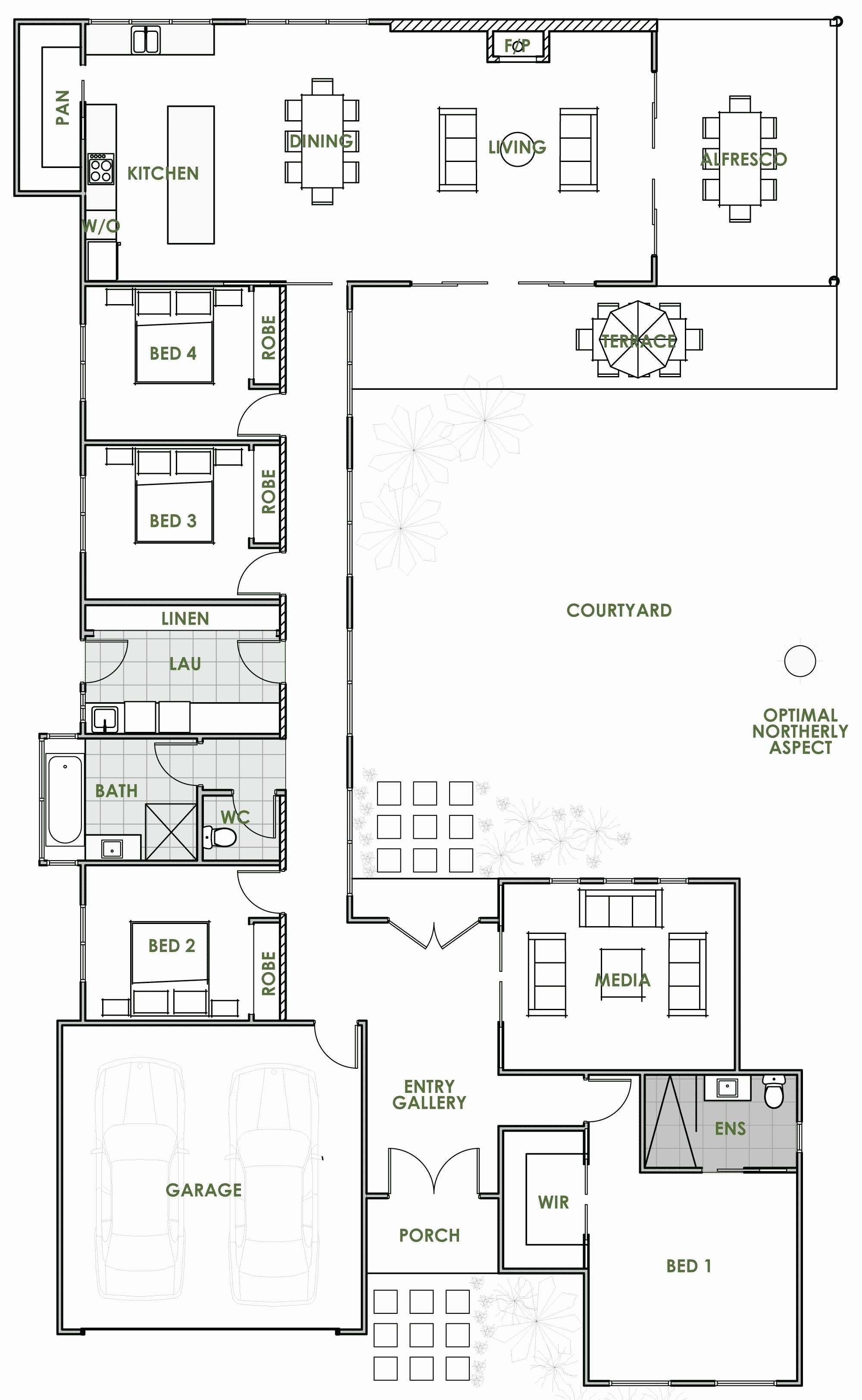 Image Result For Straw Bale House With Courtyard U Shaped House Plans Open Floor House Plans House Plans Australia