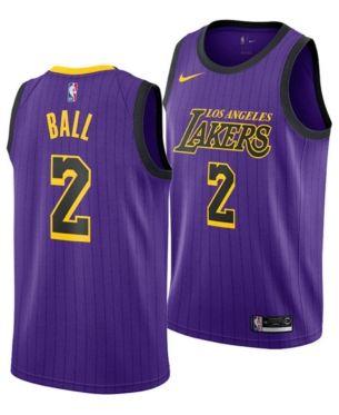 1da64a7bd Nike Lonzo Ball Los Angeles Lakers City Edition Swingman Jersey 2018 ...