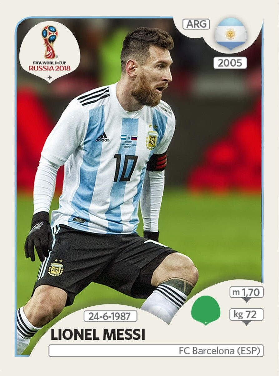 8a1339bccf Lionel Messi - Argentina - Panini FIFA world cup Russia 2018 ...