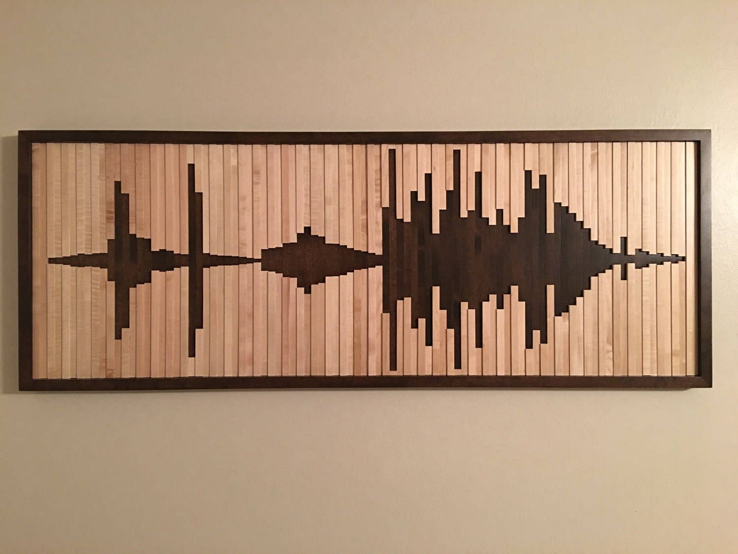 Abstract Sound Wave Wood Wall Art Wood Wall Sound Wave Wall Art