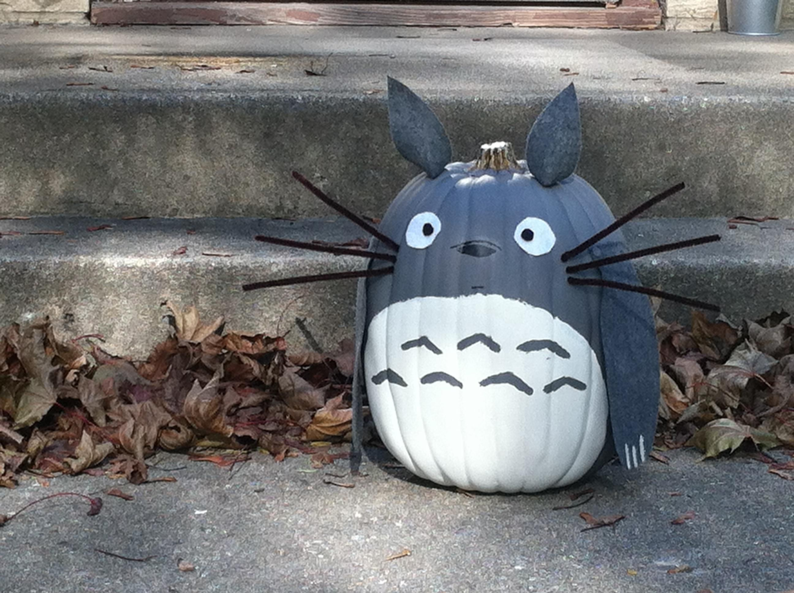I thought you guys might enjoy the pumpkin I decorated... | Totoro ...