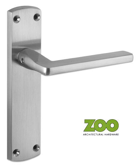 Leon Satin Chrome Door Handles Zcz011sc Sold In Pairs New