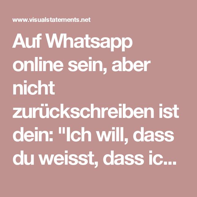 Nicht whatsapp online aber gelesen WhatsApp