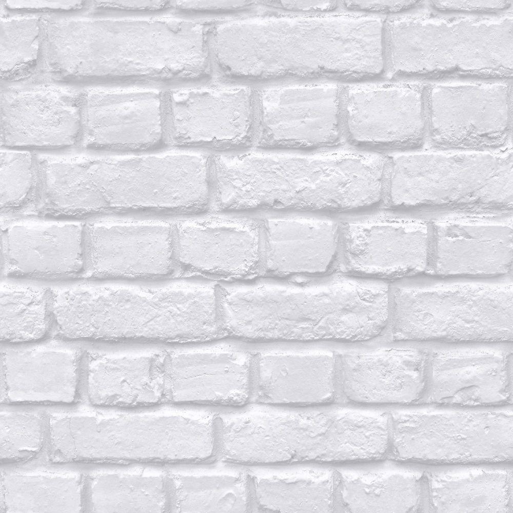 Rasch White Brick Wallpaper   226799