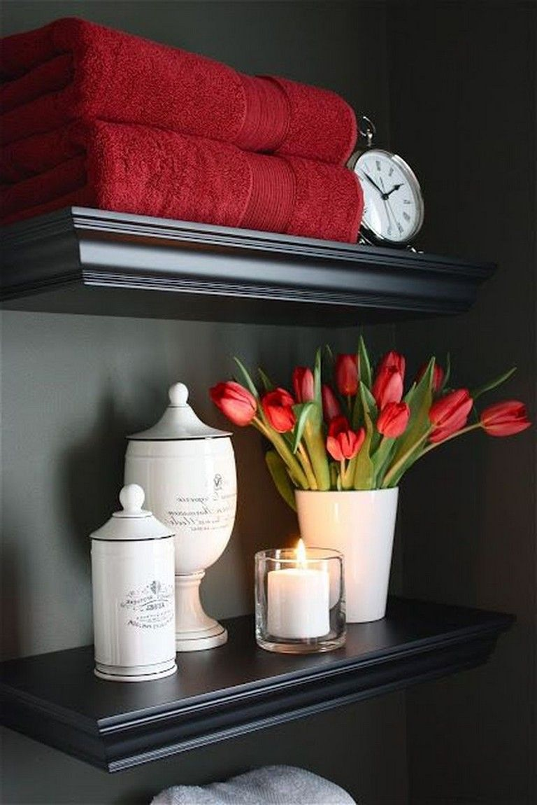 40+ Good Red Black And White Bathroom Decor Ideas images