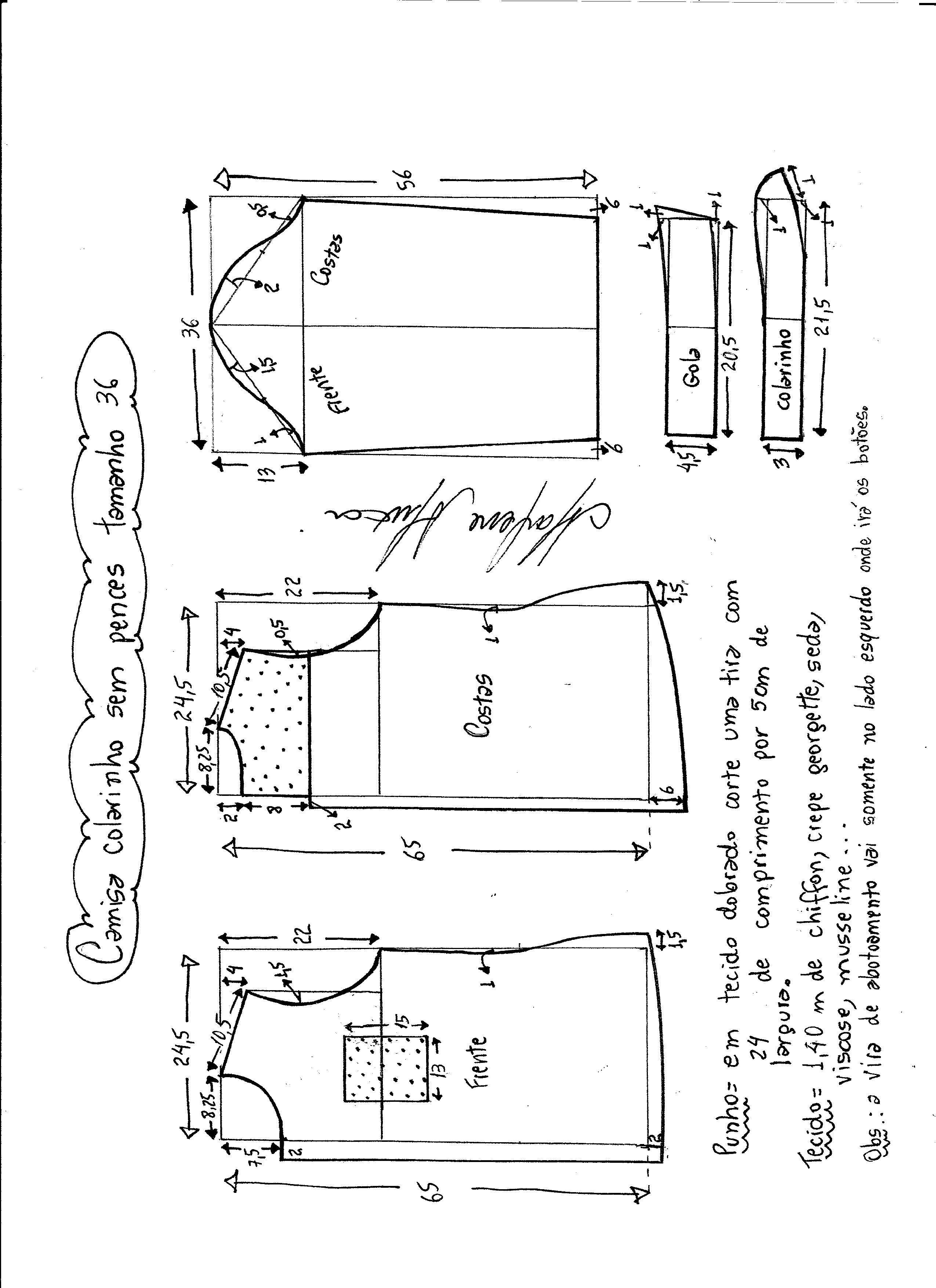Patrón de camisa para mujer | Costura | Pinterest | Sewing, Sewing ...