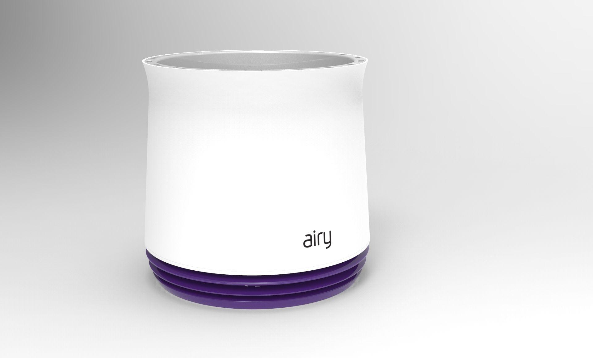 Die Neuerfindung des Pflanzentopfs: AIRY befreit die Raumluft von Schadstoffen, indem er das Wurzelwerk der Zimmerpflanze belüftet.
