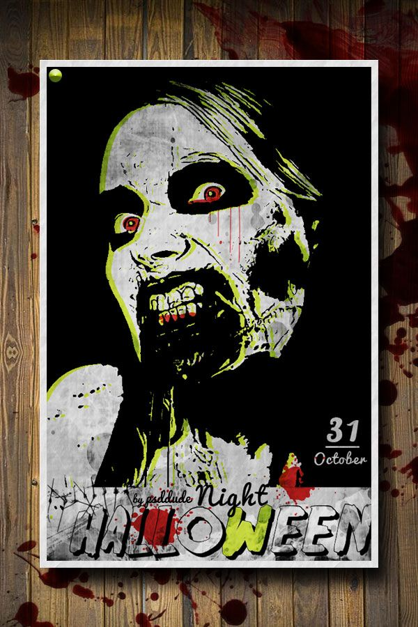 Create a Zombie Halloween Party Flyer and learn how to create - zombie flyer template