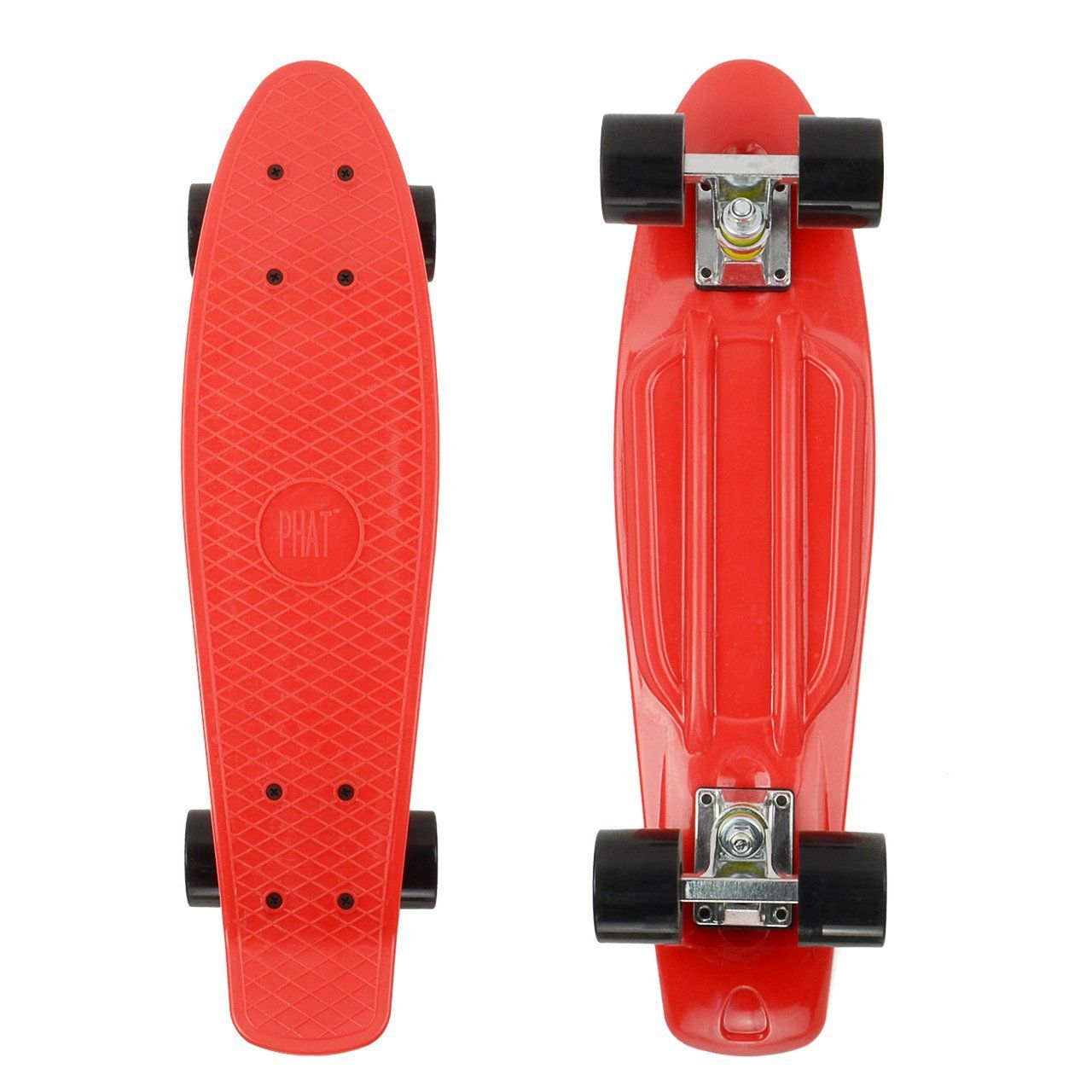 New 22/'/' Retro Street Cruiser Complete Plastic Skateboard with Light Wheels