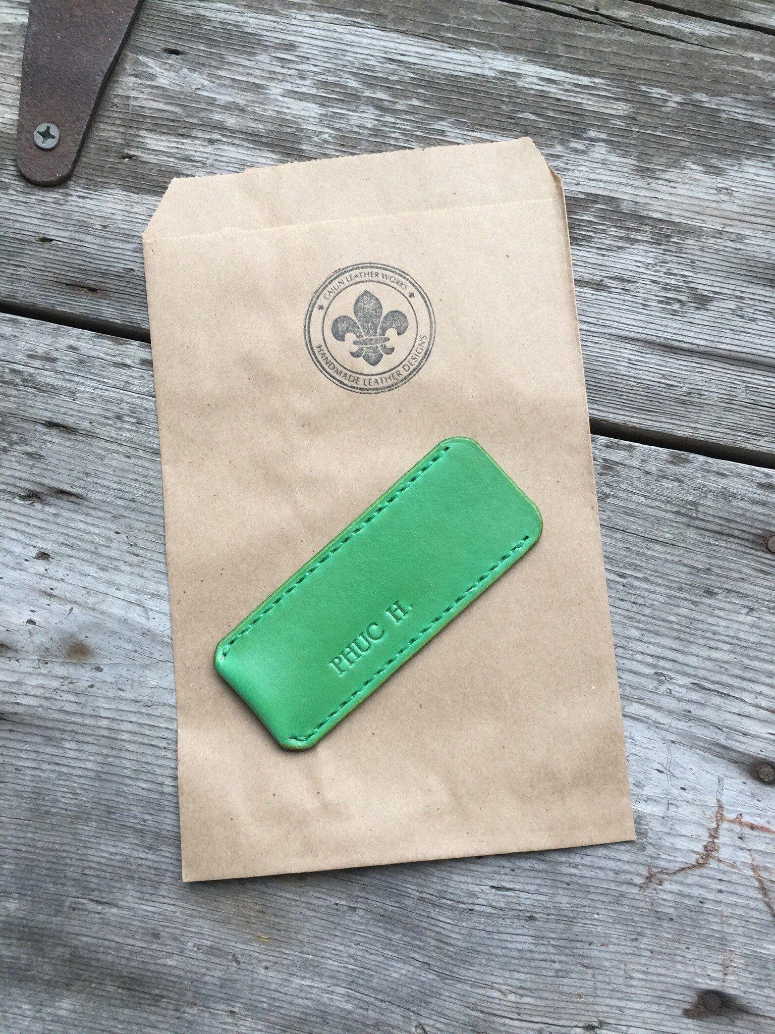 1899ab66ff9e0 Minimalist Veg Tanned Leather Pocket Knife Sheath / Knife Slip ...