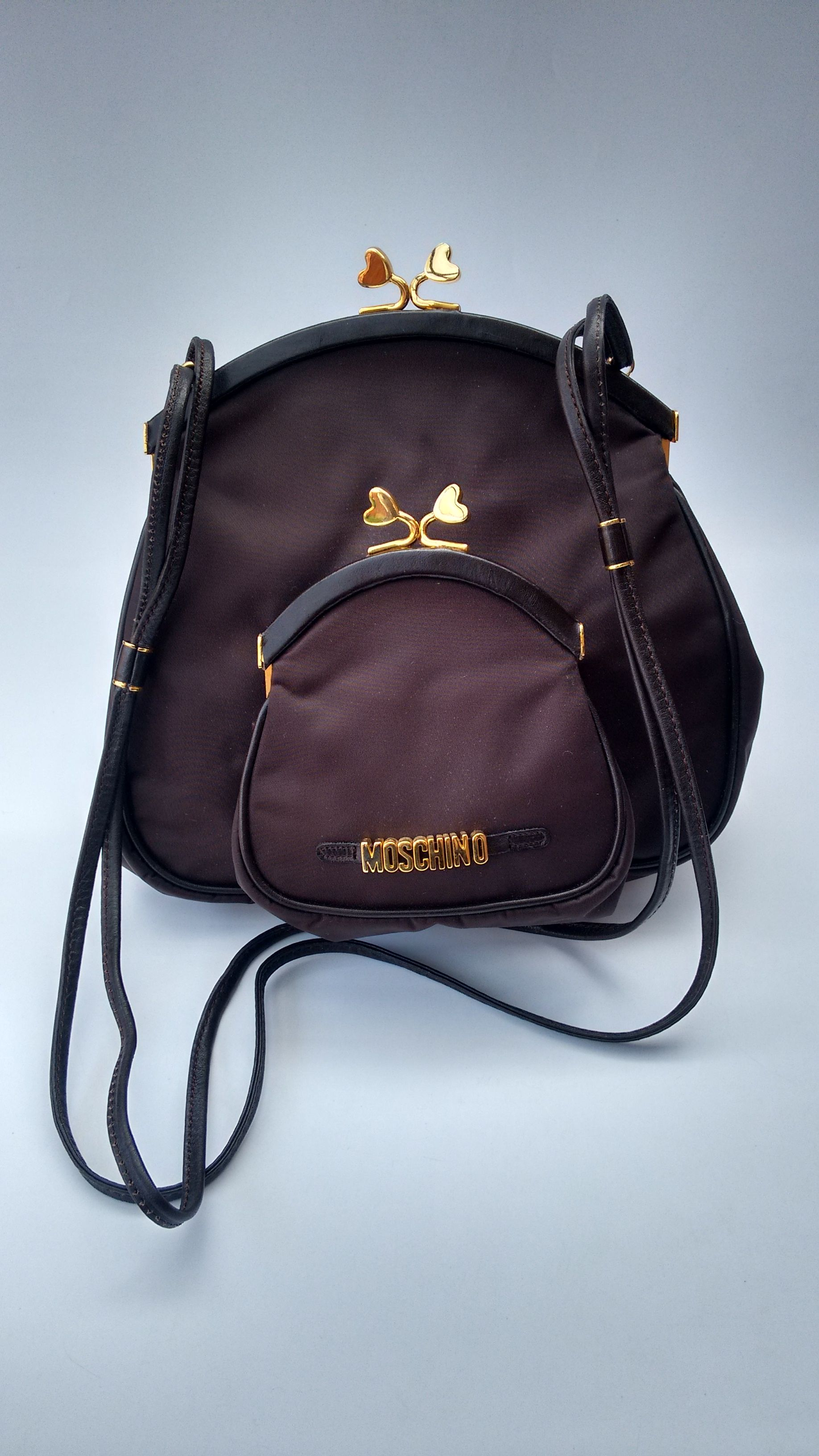 f9016bdc73 MOSCHINO Bag. Moschino by Redwall Brown Shoulder bag . Italian Designer  purse.