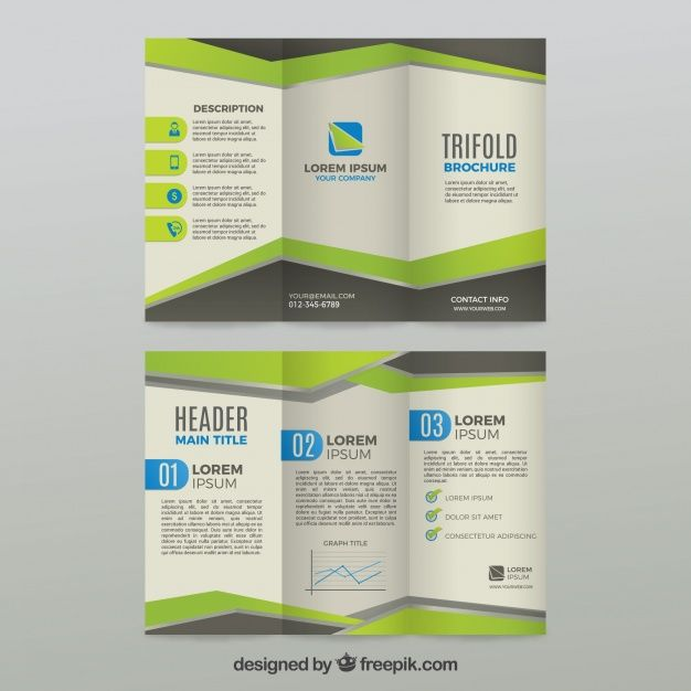 Green and grey trifold business brochure template free vector free green and grey trifold business brochure template free vector wajeb Choice Image