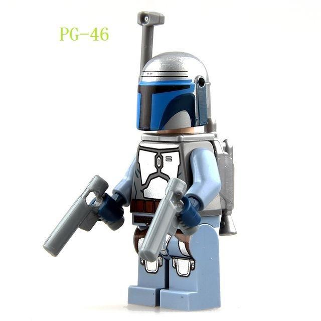 Transparent Clone Trooper Star Wars MiniFigure Building Toy Minifigures