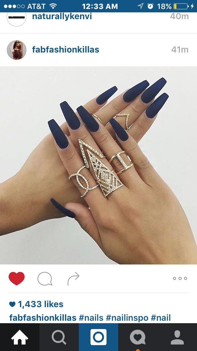 Matte blue nails   Oh you fancy huh?   Pinterest   Blue nails, Ring ...