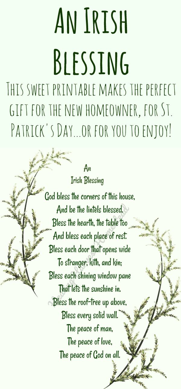 printable 5x7 an irish blessing for the home suggest great