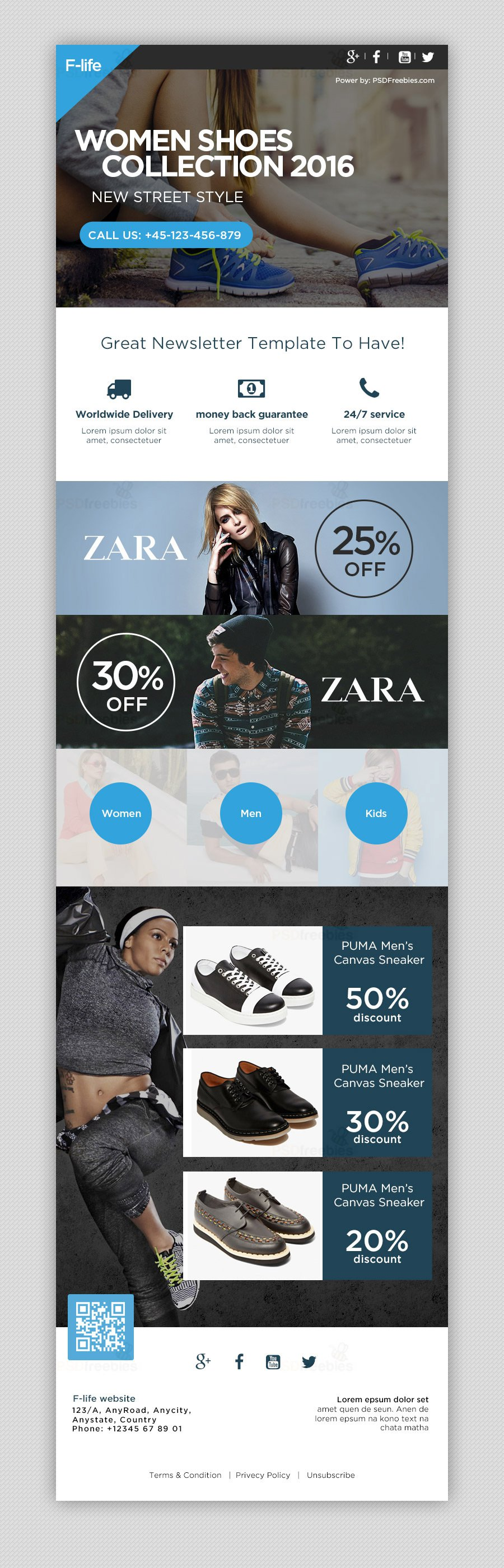 Free Email Newsletter Templates PSD » CSS Author | Email Marketing ...