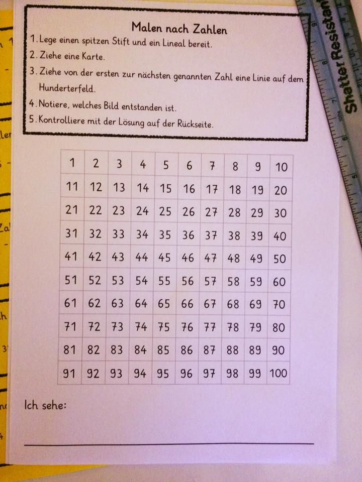16996182 1307643172635943 7608922363606893571 N Jpg 720 960 Malen Nach Zahlen Hunderterfeld Grundschulmaterial