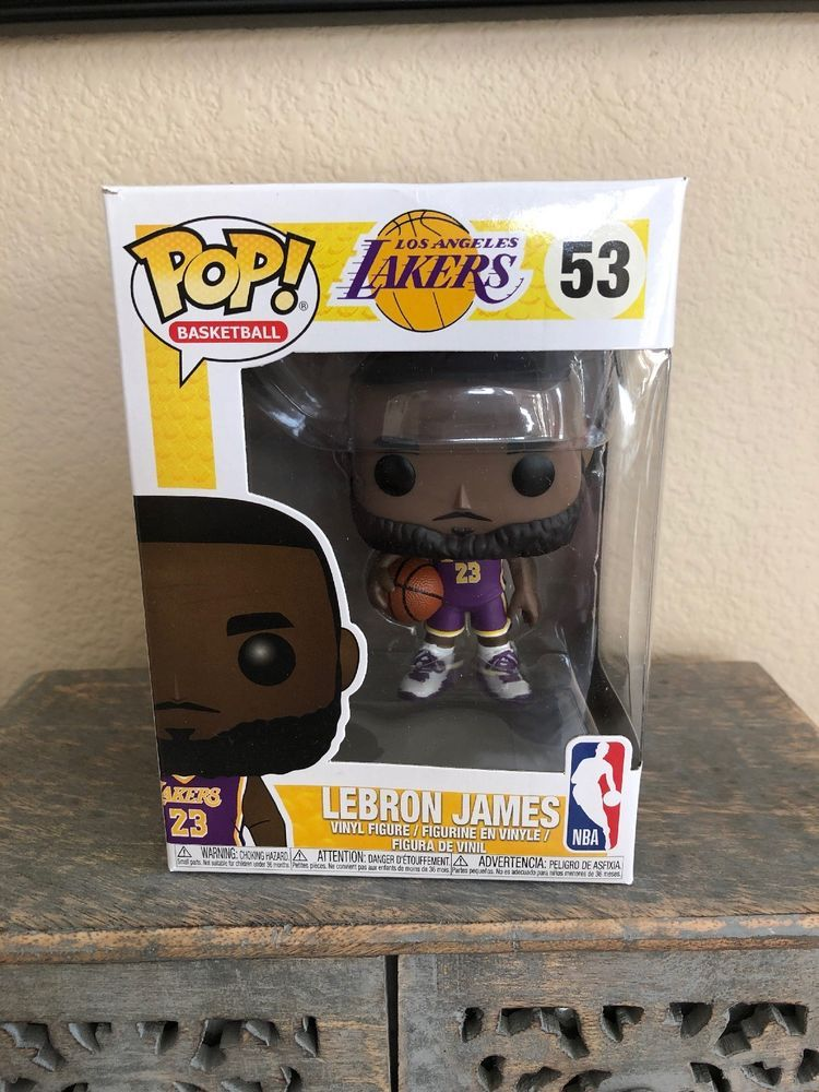 47081a369af Funko POP! Lebron James  53 NBA Lakers Purple Jersey Fanatics Exclusive!  NEW!
