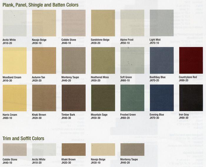 Hardie Board List Mist Panels Iron Gray Shakes Arctic White Trim Exterior House Colors Hardie Siding House Siding