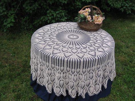 Crochet Tablecloth Patterns Crochet Free Pattern Pineapple