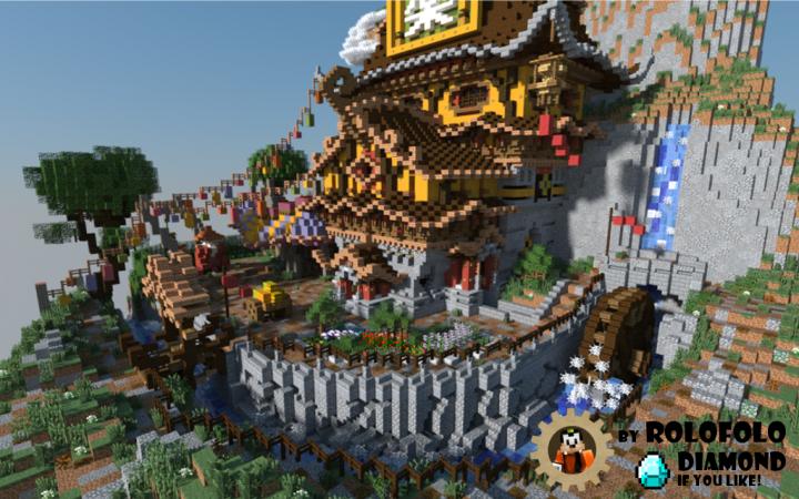 Oriental Fantasy Diorama Spawn Hub Or Lobby