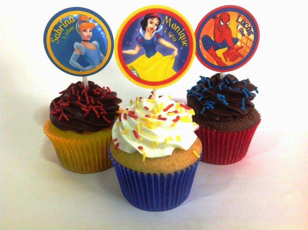 #placeofcakes #cupcake #cinderela #brancadeneve #homemaranha
