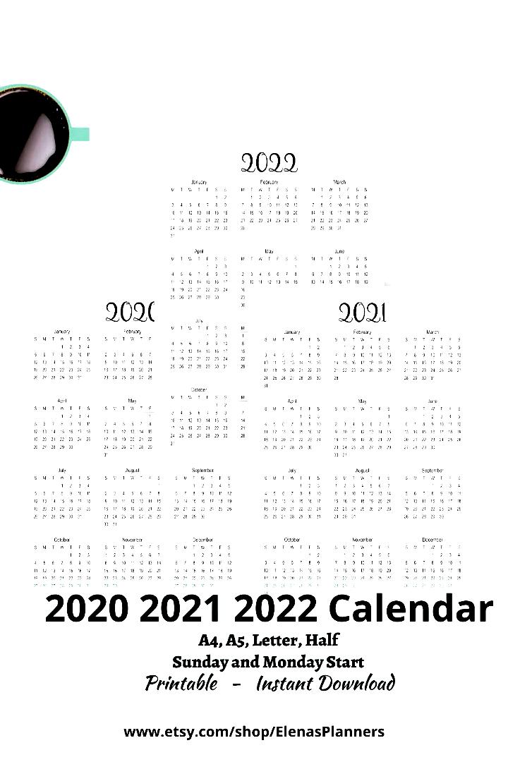 2020 2021 2022 Pdf Calendar Yearly Calendar One Page Calendar 2021 Calendar 2021 Year Calendar Yearly Inserts Yea In 2020 Yearly Calendar 2021 Calendar Calendar