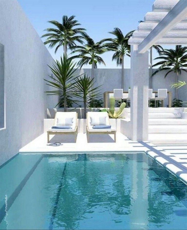 35+ Good Small Swimming Pool Ideas For Your Backyard #swimmingpools  #swimmingpooldesign #backyard