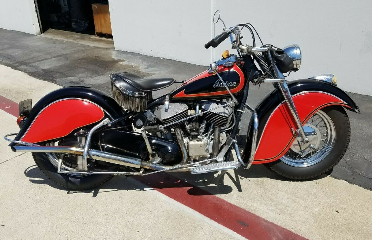 1947 Indian Chief Vintage Motorcycle For Sale Via Rocker Rocker Co In 2020 Vintage Motorcycles For Sale Motorcycles For Sale Brat Bike