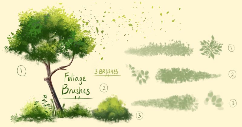 Foliage Brushes Clip Studio Paint And Ms 5 By