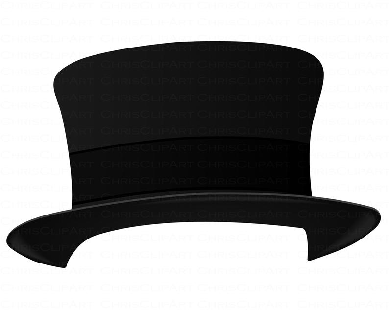 Top Hat Svg Clipart Top Hat Png Commercial Use Top Hat Etsy In 2021 Hat Vector Clip Art Top Hat