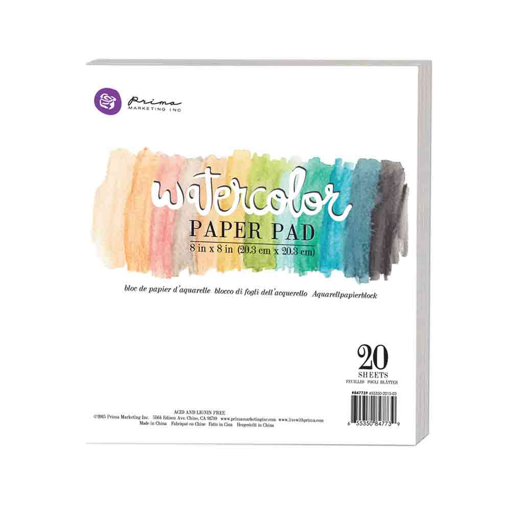 Prima 8 X 8 Watercolor Paper Pad In 2019 Products Watercolor