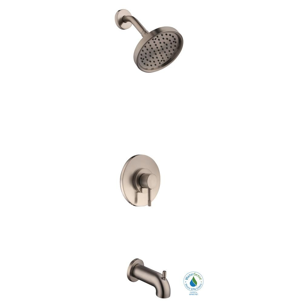 Schon Axel Single Handle 1 Spray Tub And Shower Faucet In Brushed
